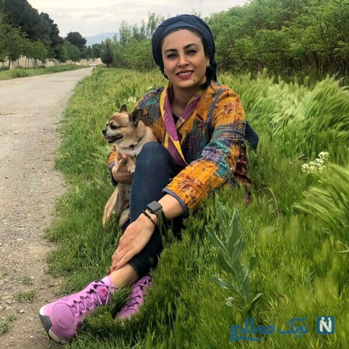چالش جذاب و جدید حدیث تهرانی و همسرش + فیلم