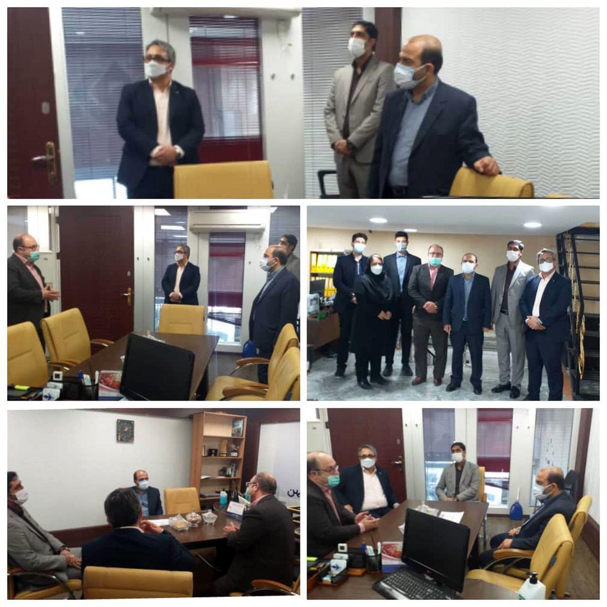 بازدید مدیرعامل بیمه میهن از شعبه غرب تهران