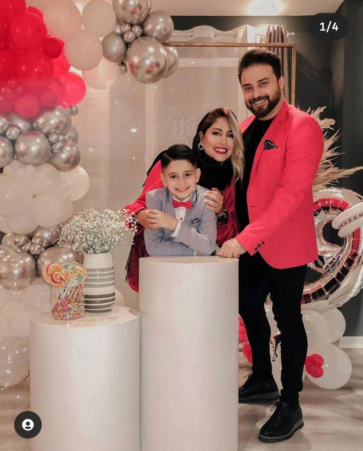 جشن خصوصی بابک جهانبخش و همسرش + تصاویر