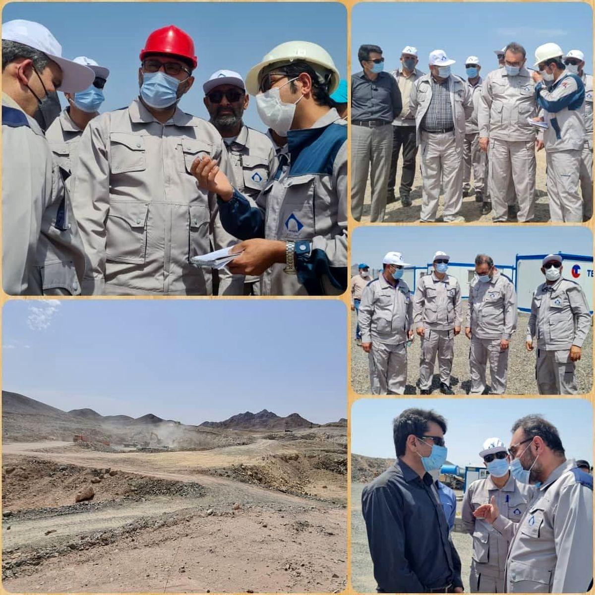 بازدید مدیرعامل شرکت تهیه و تولید مواد معدنی ایران از معدن سنگ آهن حنار