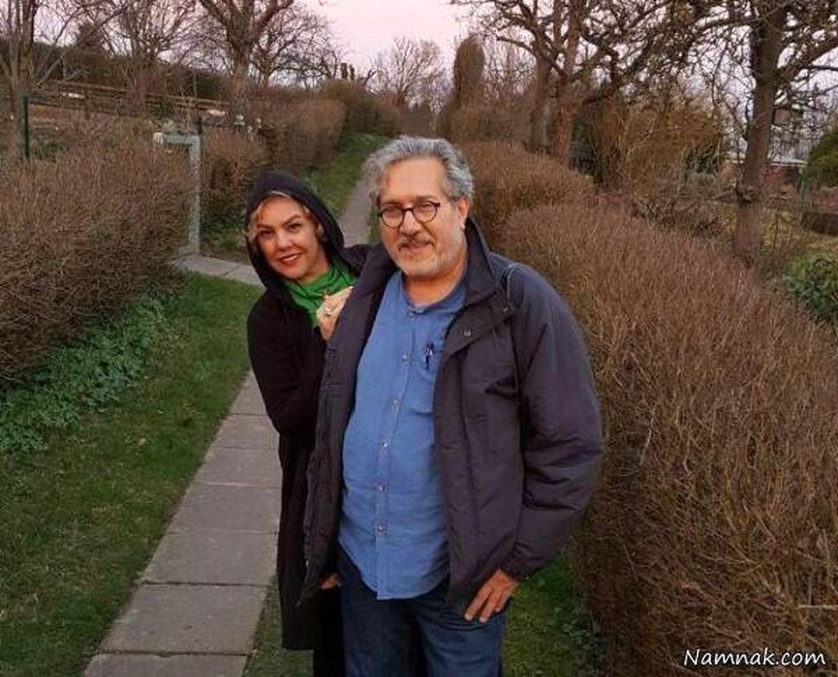 افسانه چهره آزاد بازیگر سریال احضار  و همسرش + عکس