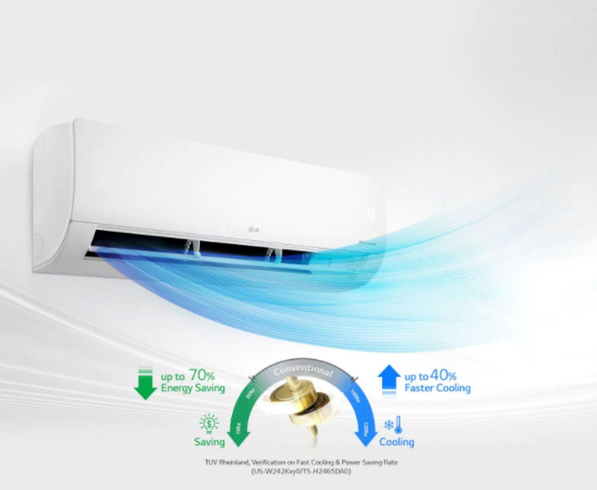 تکنولوژی اینورتر دوگانه و سرمایش سریع با کولرهای گازی الجی