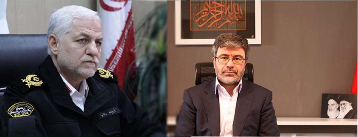 تبریک رئیس پلیس راهنمایی و رانندگی ناجا به مدیر عامل بیمه رازی