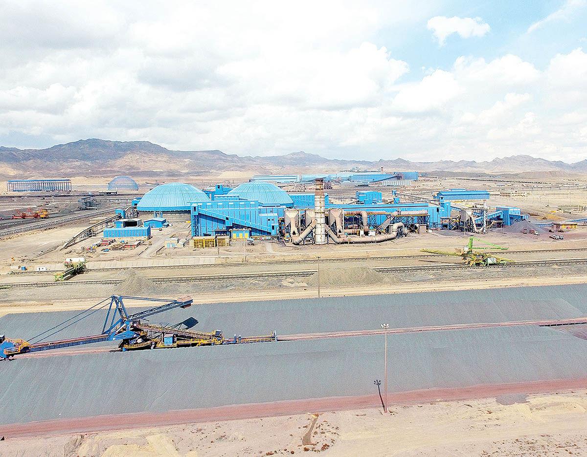 افزایش تولید گندله در فولاد سنگان