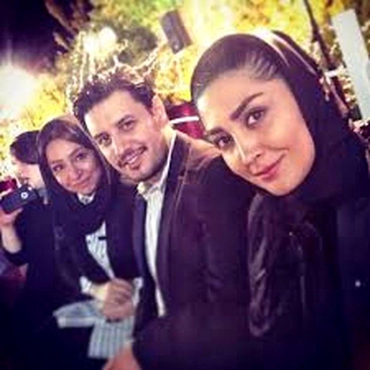 همسر جواد عزتی در لباس عروس + عکس