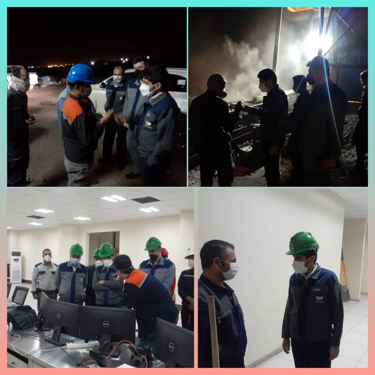 بازدید شبانه مدیرعامل فولاد سنگان از خطوط تولید