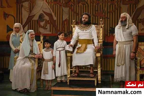 الهام حمیدی و مصطفی زمانی در سریال یوسف پیامبر